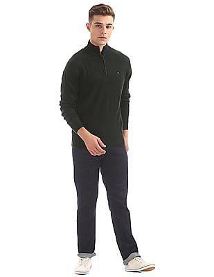 Arrow Sports High Neck Half Zip Sweater