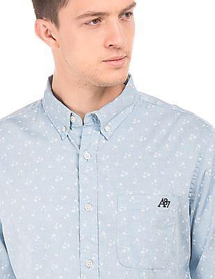 Aeropostale Regular Fit Floral Print Shirt