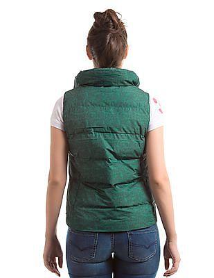 U.S. Polo Assn. Women Paisley Print Puffer Gilet Jacket