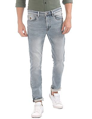 U.S. Polo Assn. Denim Co. Skinny Fit Rags Wash Jeans