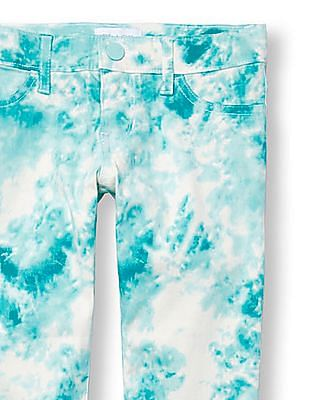 The Children's Place Girls Tie Dye Printed Woven Jeggings