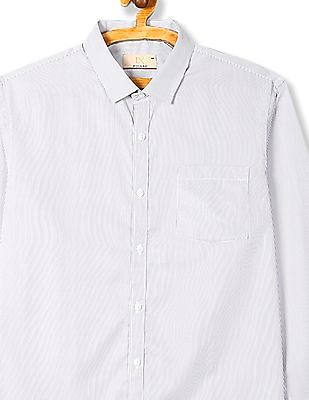 Excalibur Semi Cutaway Collar Vertical Stripe Shirt