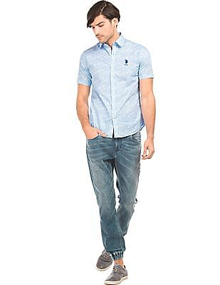 U.S. Polo Assn. Floral Print Tailored Fit Shirt