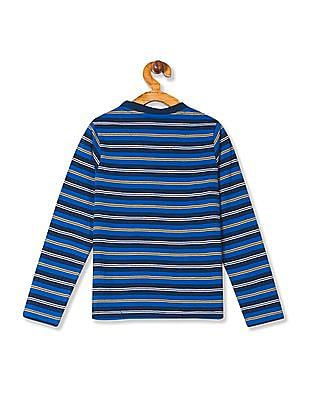 Cherokee Boys V-Neck Striped T-Shirt