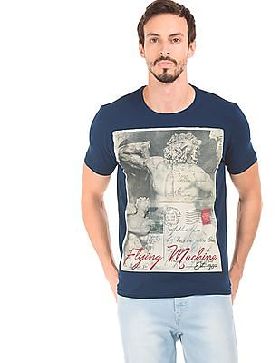 Flying Machine Printed Regular Fit T-Shirt