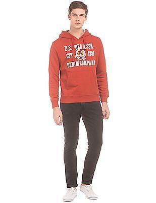 U.S. Polo Assn. Denim Co. Brand Applique Hooded Sweatshirt