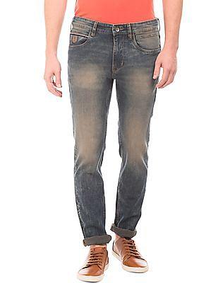 U.S. Polo Assn. Denim Co. Skinny Fit Stone Wash Jeans