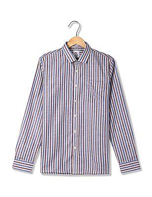Excalibur Cutaway Collar Striped Shirt