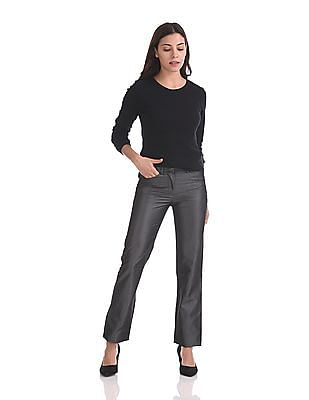 Arrow Woman Regular Fit Flat Front Trousers