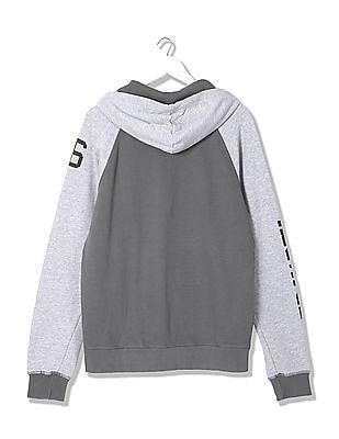 Ed Hardy Hooded Colour Block Sweatshirt