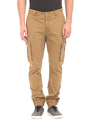 Flying Machine Cotton Twill Cargo Joggers