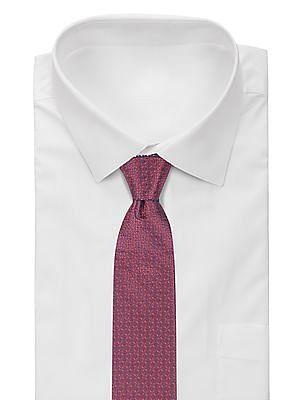 Arrow Floral Jacquard Two Tone Tie