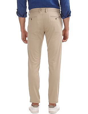 U.S. Polo Assn. Slim Tapered Fit Solid Trousers