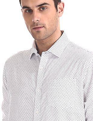Excalibur Printed Slim Fit Shirt