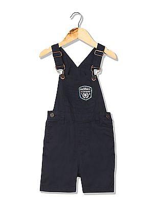 Cherokee Boys Solid Dungaree Shorts