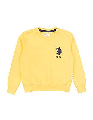 U.S. Polo Assn. Kids Boys Solid Crew Neck Sweatshirt