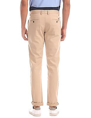 Arrow Sports Slim Fit Flat Front Chinos