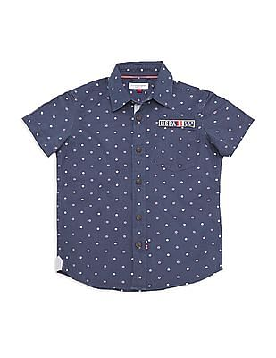 U.S. Polo Assn. Kids Boys Short Sleeve Star Print Shirt