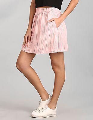 GAP Linen Stripe Mini Skirt