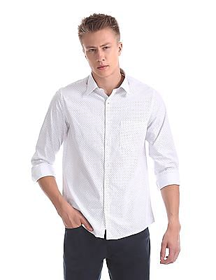 Excalibur French Placket Printed Shirt