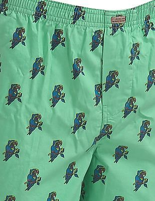 Flying Machine Parrot Print Cotton Boxers