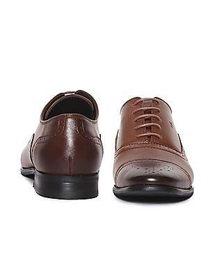 Arrow Cap Toe Leather Oxford Shoes