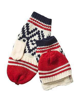 GAP Boys Alpine Fair Isle Convertible Mittens