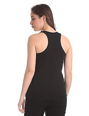 Unlimited Round Neck Solid Tank Top
