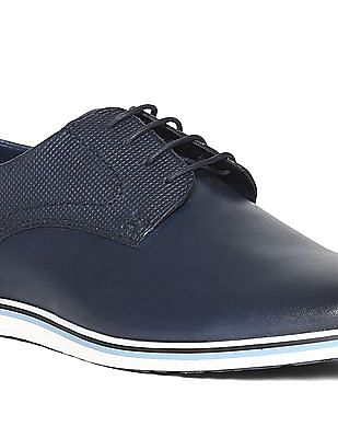 U.S. Polo Assn. Round Toe Leather Derby Shoes