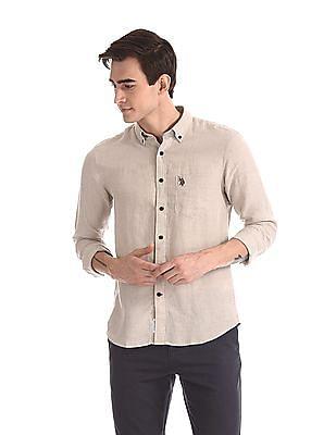 U.S. Polo Assn. Button Down Collar Linen Shirt