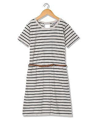 Cherokee Girls Striped T-Shirt Dress