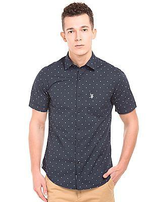 U.S. Polo Assn. Regular Fit Polka Print Shirt