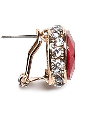 Unlimited Red Embellished Stud Earrings