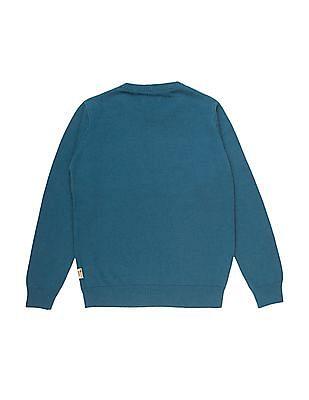 FM Boys Boys Patterned Knit Slim Fit Sweater