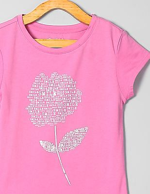 183537783e76 Buy Girls Girls Embellished Graphic Tee online at NNNOW.com