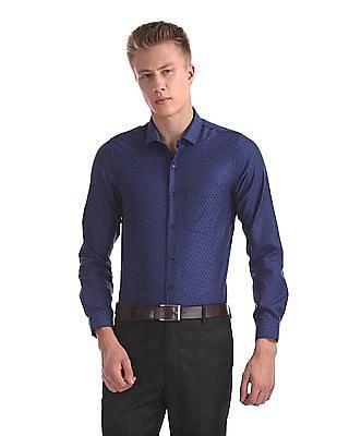 Excalibur Super Slim Fit Patterned Weave Shirt