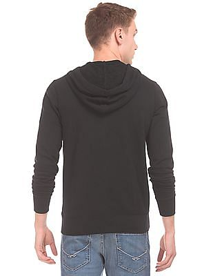 Aeropostale Solid Hooded Sweatshirt