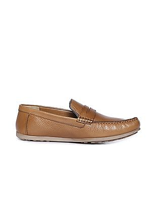Arrow Textured Penny Loafers