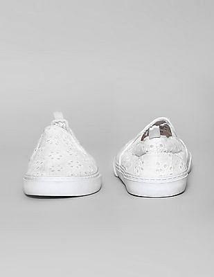 GAP Toddler Girl Eyelet Slip-On Sneakers