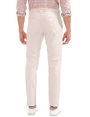 Izod Slim Fit Flat Front Trousers