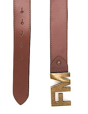 Flying Machine Colour Block Leather Belt