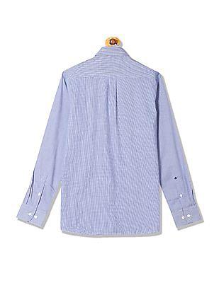 Arrow Regular Fit Houndstooth Weave Shirt