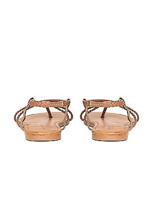 Aeropostale Braided Crossover Strap Sandals