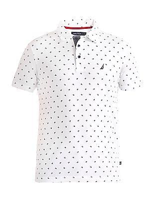 Nautica Short Sleeve Printed Polo Shirt