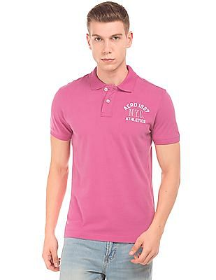 Aeropostale Regular Fit Embroidered Logo Polo Shirt