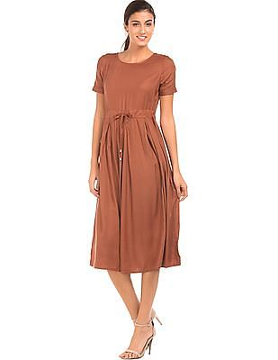 Elle Drawstring Waist Midi Dress
