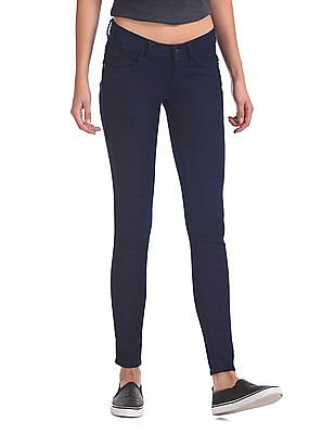 Flying Machine Women Low Waist Rinsed Jeans