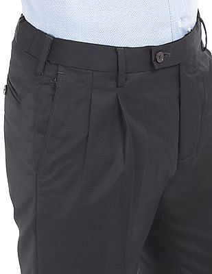 Arrow Regular Fit Pleated Front Trousers