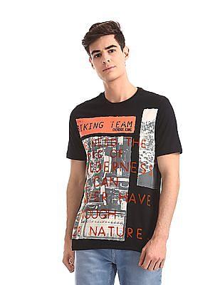 Cherokee Black Crew Neck Graphic T-Shirt