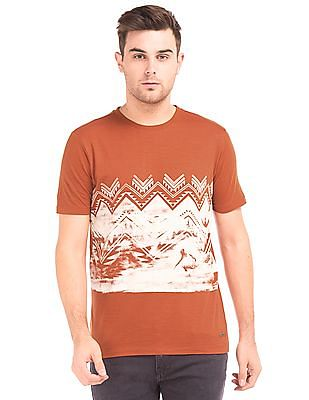 Cherokee Printed Front Cotton T-Shirt